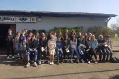 Oberschule Stelle mit Dänemark Austauschschülern